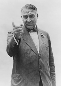 Warren G. Harding campaigning for President in 1920.